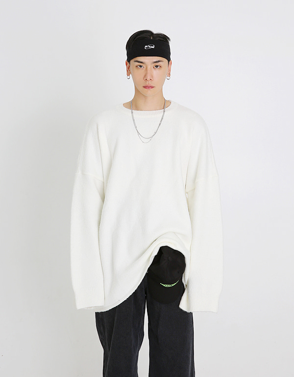 No.0019 HIC made white overover round KNIT