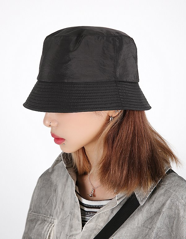 No.8179 gloss short bucket HAT (4color)
